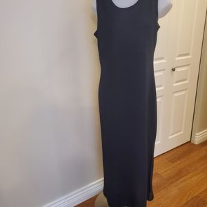 Lovely Simple  Black Maxi Dress sz 14.